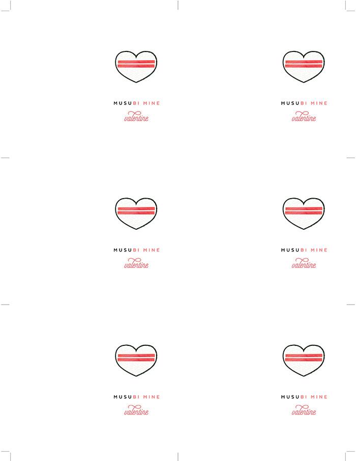 "Free Printable | ""Musubi Mine Valentine"""