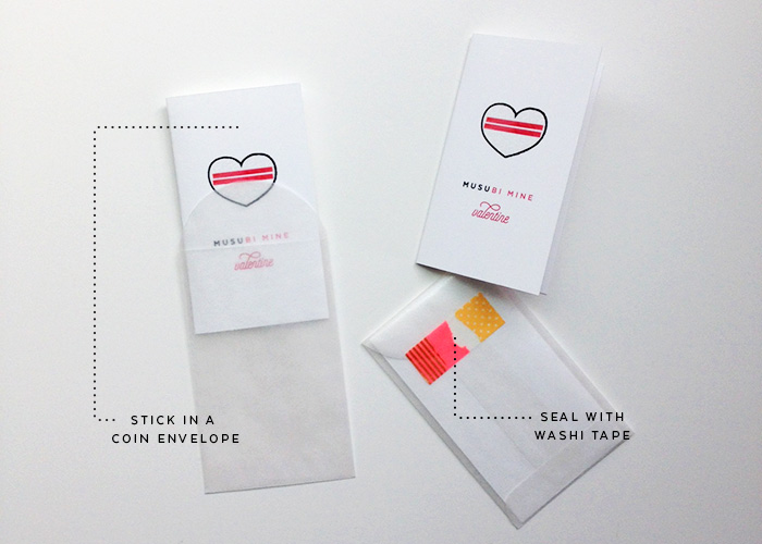 "Free Printable | ""Musubi Mine"" Mini Valentine"