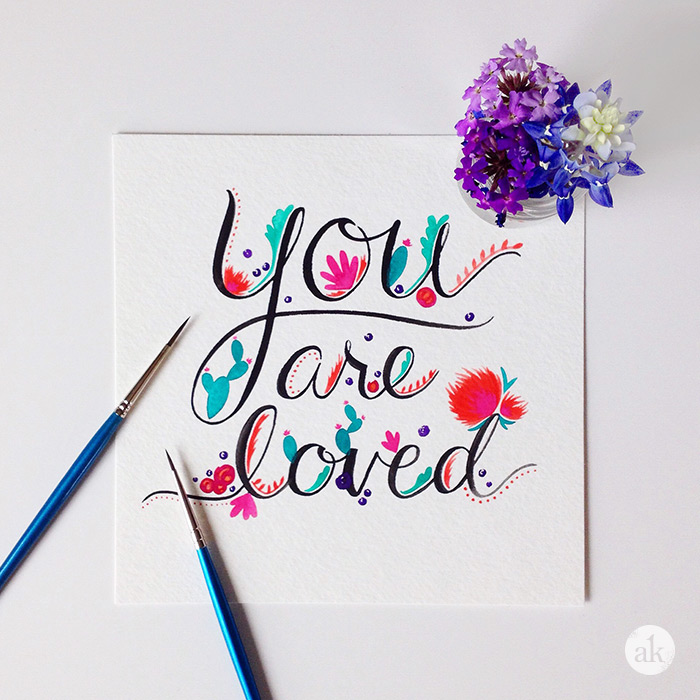 Free Watercolor Printable | You are loved.