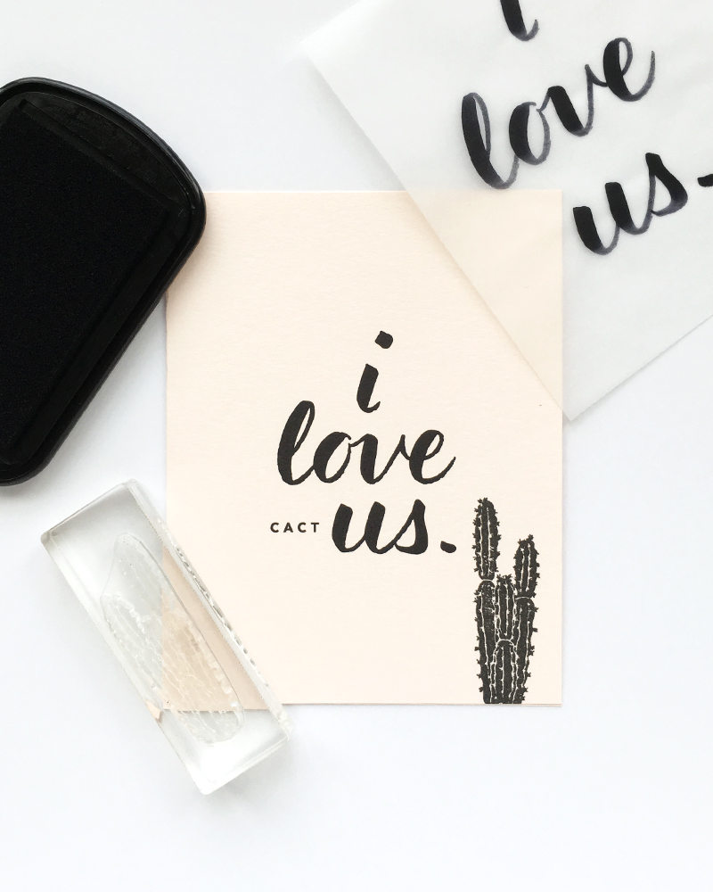 "Free Printable | ""I love [cact]us."" Valentine's Day Card by Pretty Peas Paperie"