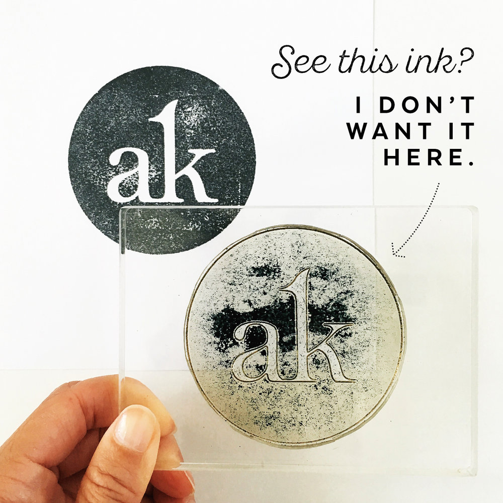 "My Secret for Fixing Missing ""Ink Splotches"" When Using Clear Stamps"
