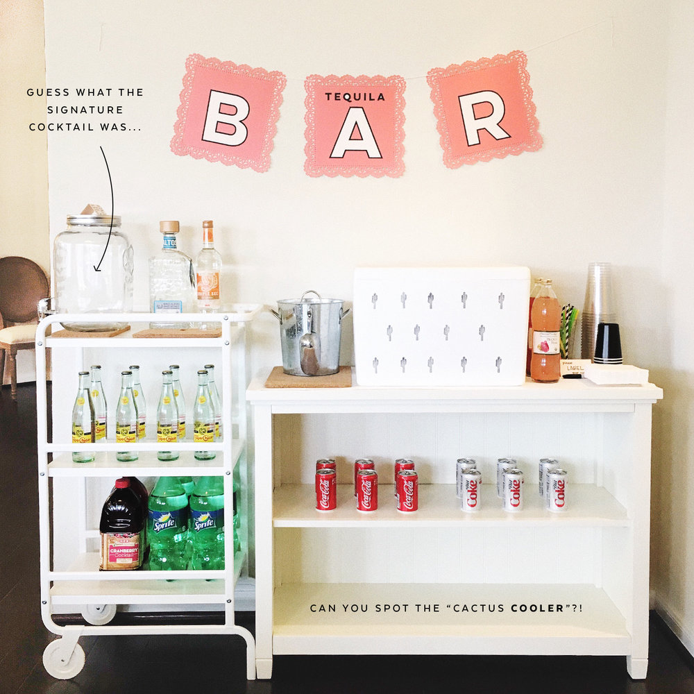 Cactus Cooler Bar | Pretty Peas Paperie