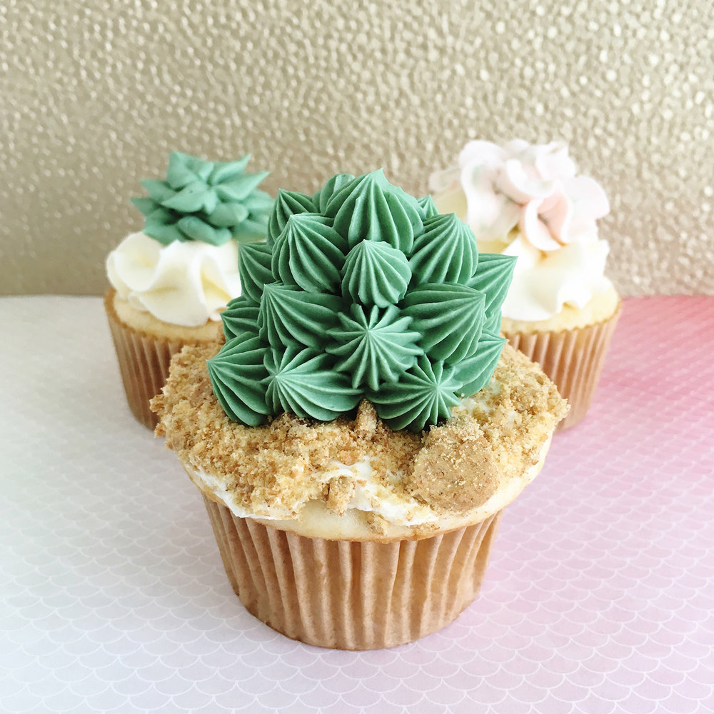 Succulent Cupcakes by Sinfully Sweet Cake Design | Pretty Peas Paperie
