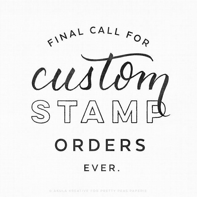 ...or at least for a lonnnnng time. I'll be taking down ALL custom and made-to-order listings this evening, so after this you will only be able to purchase stamps in stock. Please order promptly if there's a stamp you want that we don't currently have! Thank you!! . And don't forget to enter the giveaway one post back! More giveaways to come. . . . . . #customstamp #logostamp #rubberstamp #clearstamps #handstamped #handmade #etsy #papergoods #dailydoseofpaper #happymail #stationeryaddict #shopsmall #texasmade #htx #prettypeaspaperie #specialdelivery #letterlove #prettypeaspaperie