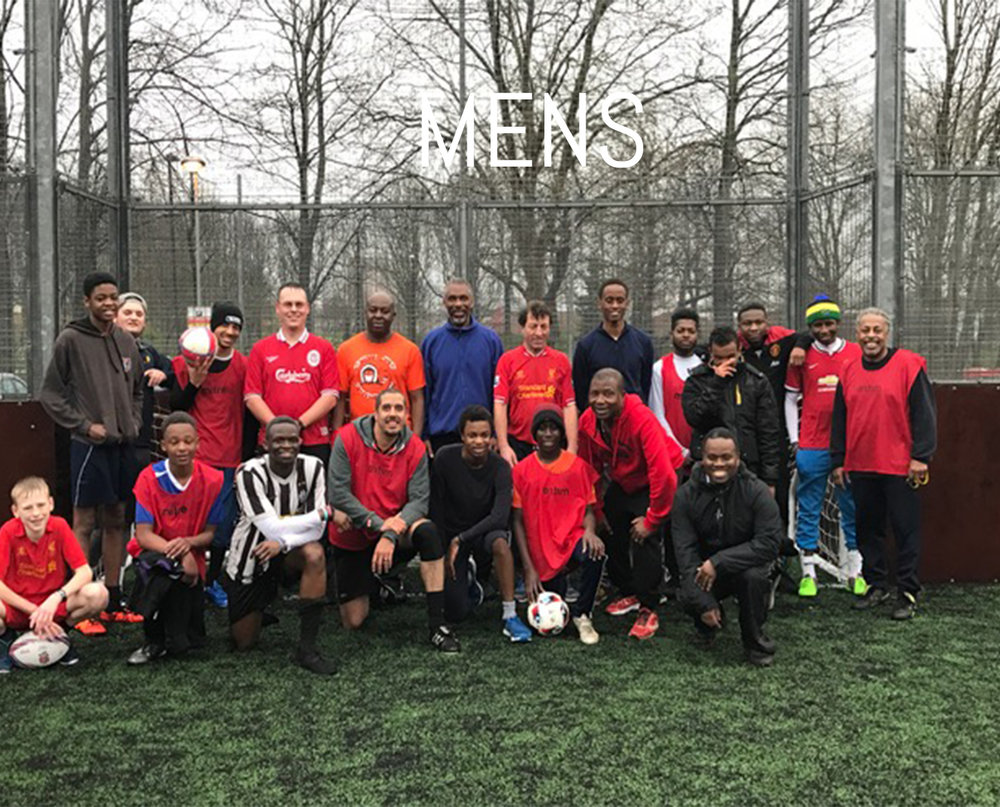 The Mens ministry is a time for the men and younger lads in the church to enjoy playing some sport together and eating food. We often have Caribbean or curry nights and hear a great word brought to us by various people.