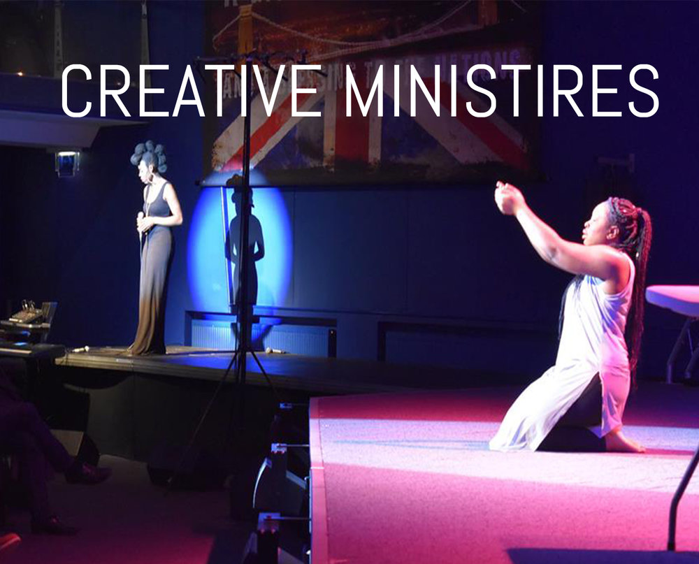We have a group of people at the church who are extremely creative in various areas, such as - Dance, Music, Art, Drama and much more!