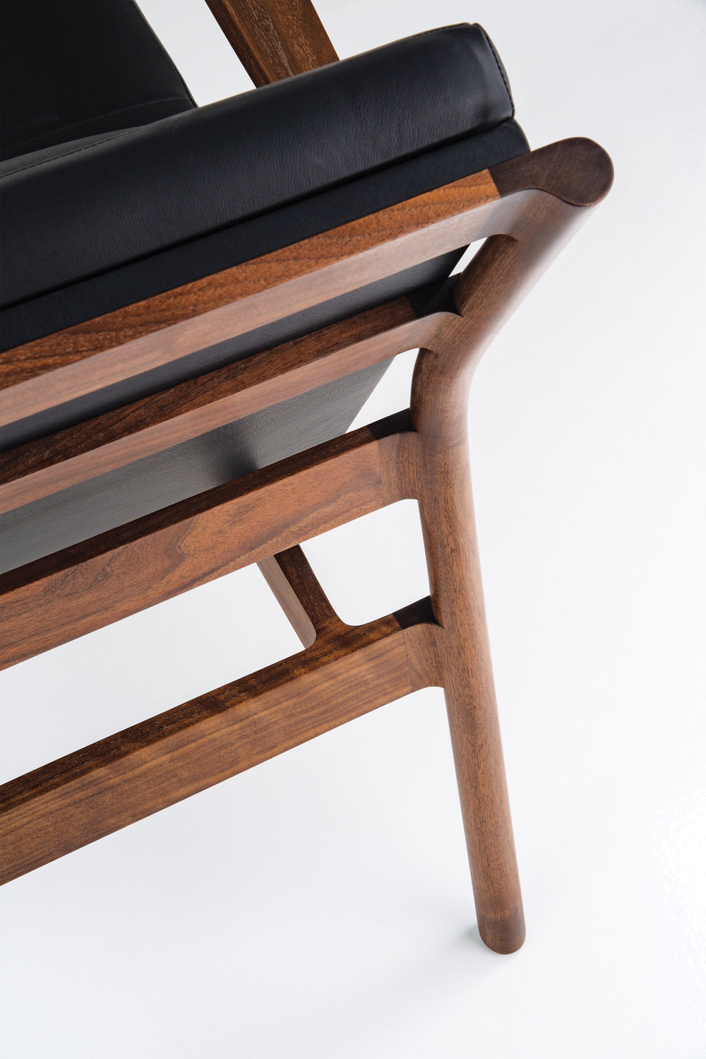 > Detail of Hartford Lounge Chair joinery.