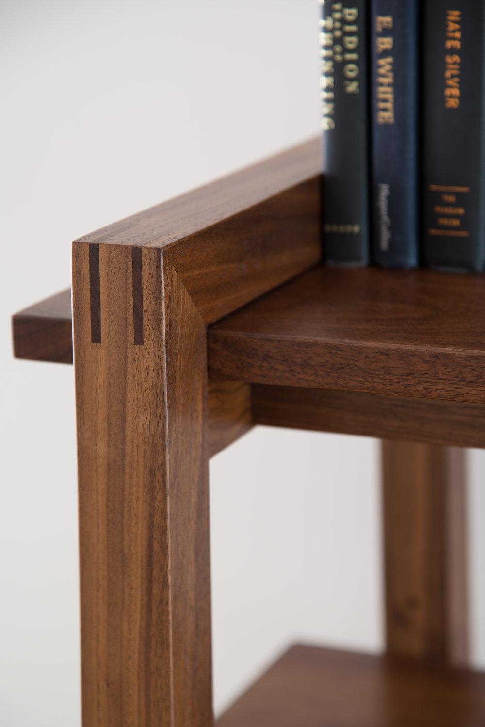 > Detail of Bookshelf joinery.