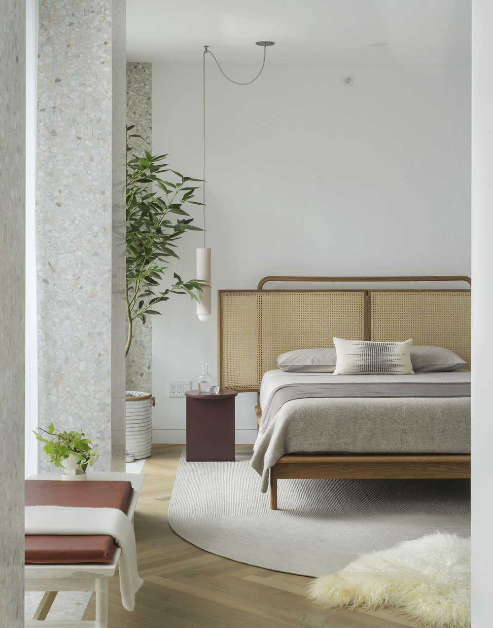 > Mae Bed + Mae Bench for Radnor