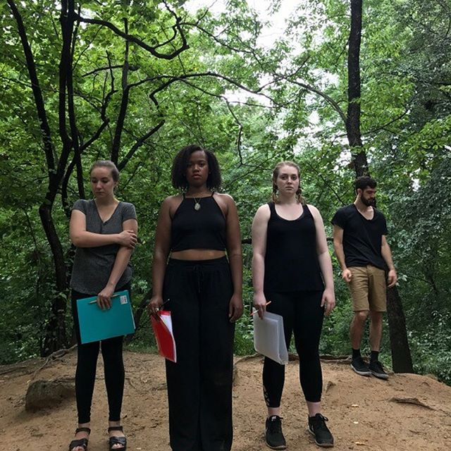 First blocking rehearsal for #iphigenia in #centralpark. The play is coming August 31, produced by @spiritfoxproductions