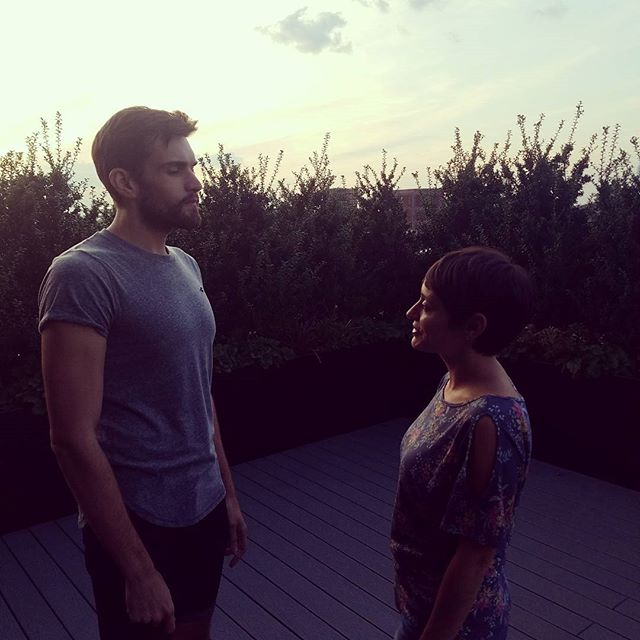 A lil roof top line-running. 2 days until we open! #iphigenia #greek #nyctheatre