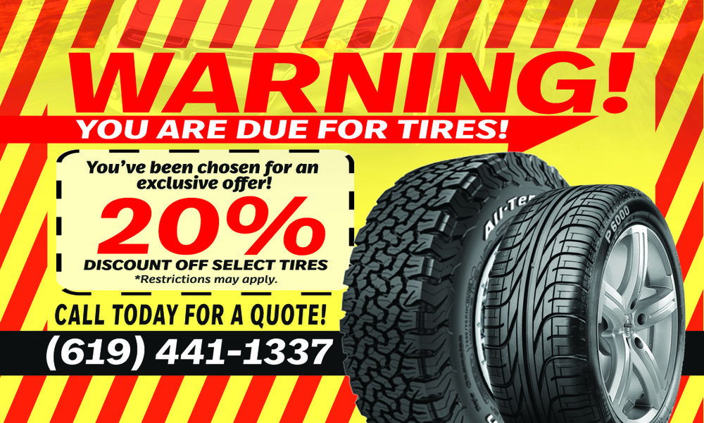 LRT WAREHOUSE - EXLUSIVE OFFER SAN DIEGO TIRES WHEELS