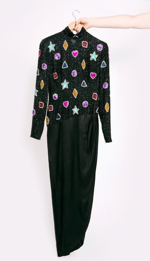 Vintage Bob Mackie Embroidered Gown — Tavi\'s Tag Sale