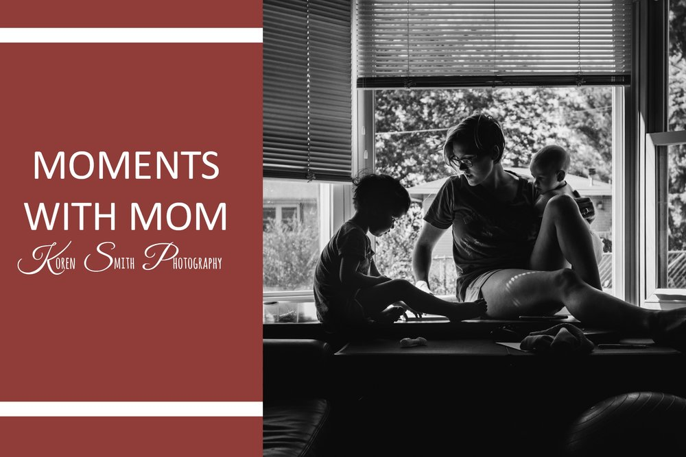 MOMENTS WITH MOM - Last month, I wrote about wanting to get in the frame more often. I had great intentions but it's a hard task to commit to. I get busy, I forget, I get lazy and ultimately I take my time with my kids young for granted.