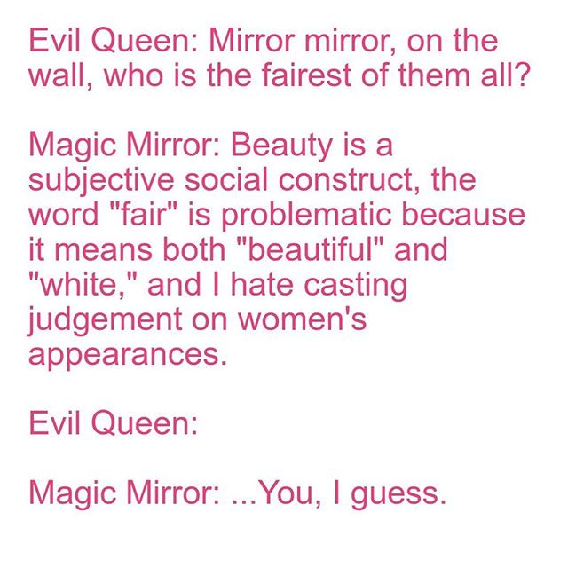 Magic Mirror, you get points for trying.