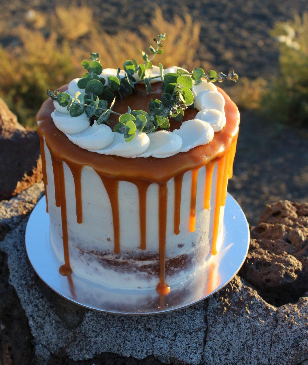 eggnog bourbon cake -