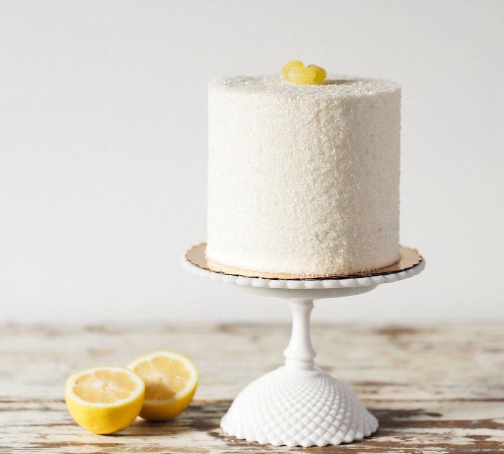 Lemon Love: - Three layers of Lemon Cake, Lemon Cream, Lemon Cream Cheese Frosting, Lemon Swiss Meringue Buttercream