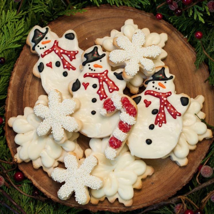 Seasonal/ Holiday- - Fondant Topped & hand painted, Emoji