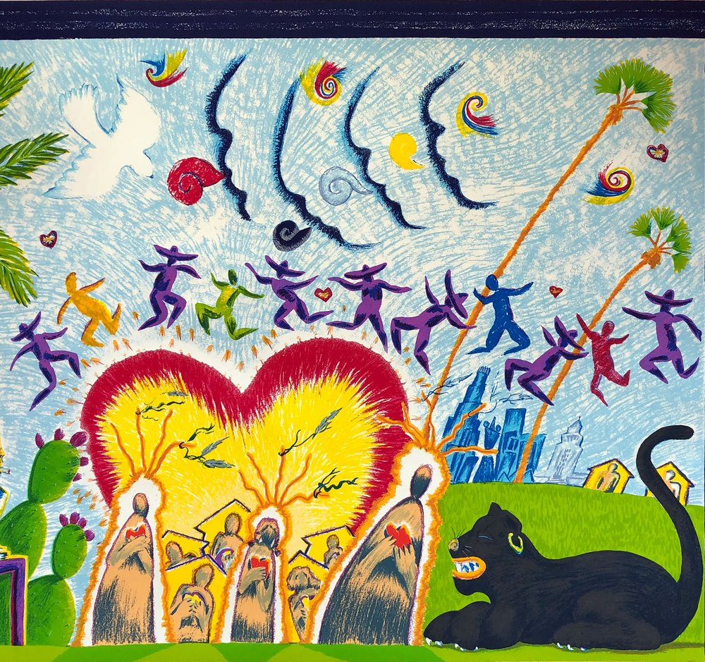 Mosaic Corazon, by Leo Limon