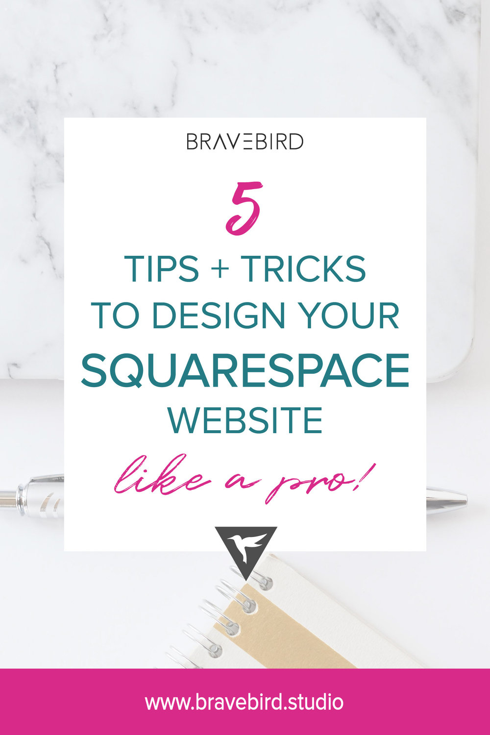 5 tips and tricks to design your Squarespace website like a pro! | Bravebird Blog