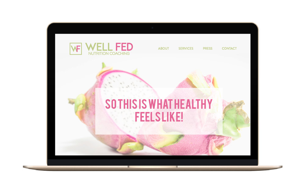 Well Fed Nutrition | Branding & Web Design | Bravebird Studio