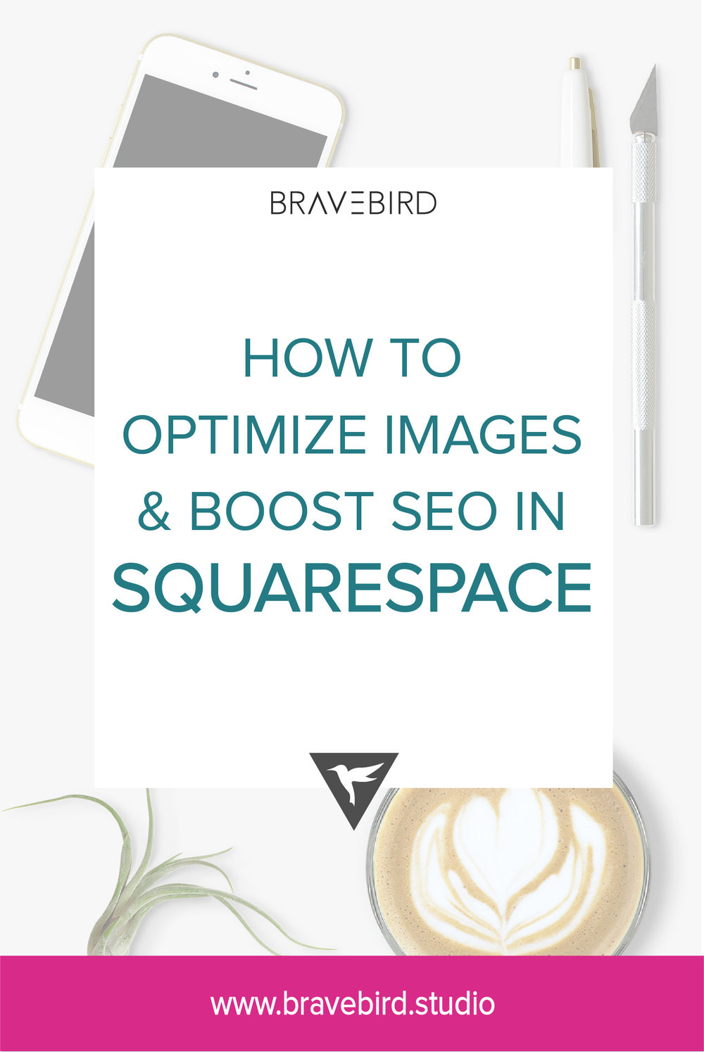 How to optimize images & boost SEO in Squarespace | Click for all of the super easy steps! | Bravebird Studio