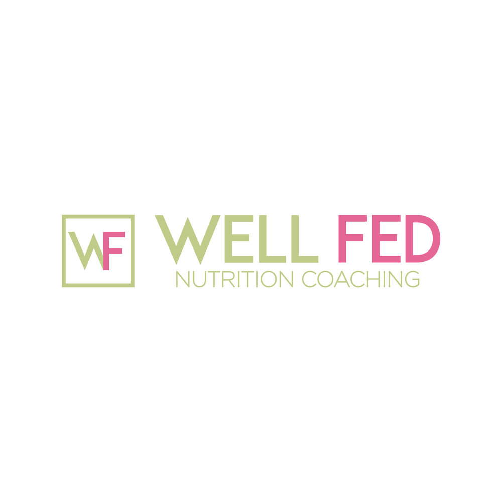 Well Fed Nutrition Coaching | Logo Design | Bravebird Studio - Branding & Web Design