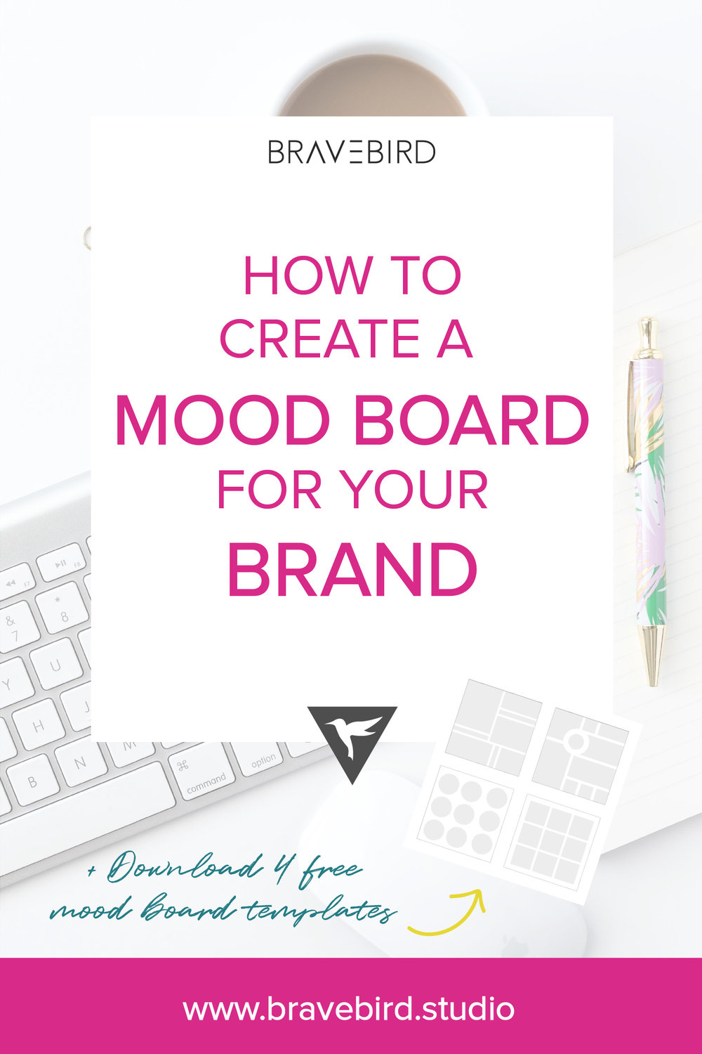 How to create a mood board for your brand. | Bravebird Studio | Branding & Web Design