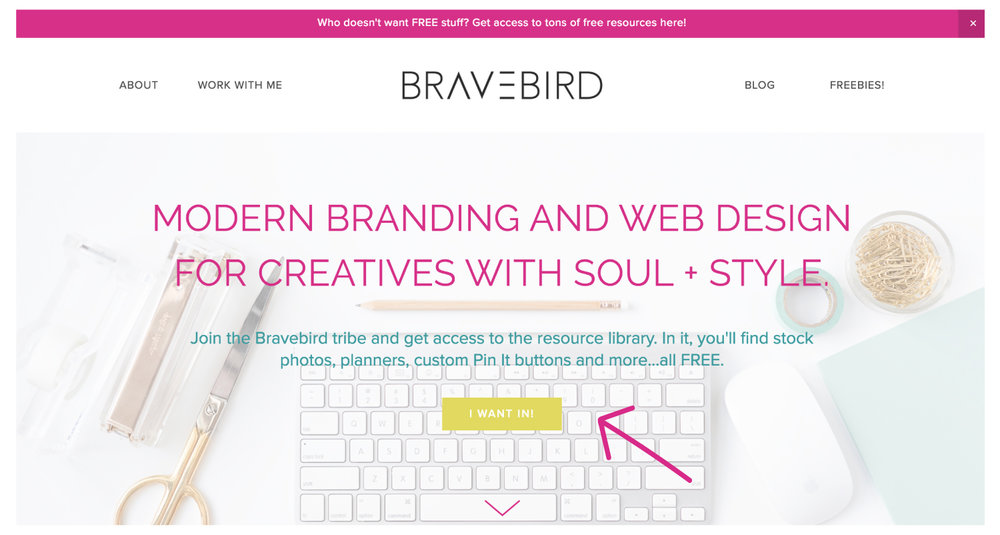 Want more email subscribers? Put opt-ins in these 7 places. | Bravebird Studio | Branding & Web Design