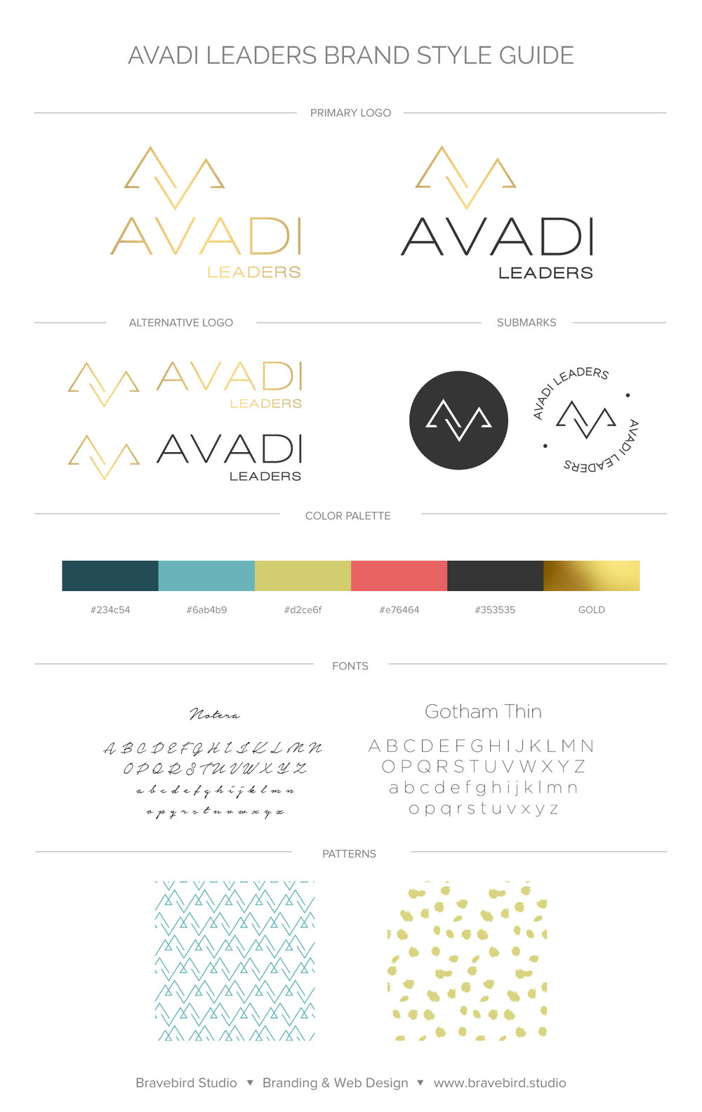 Avadi Leaders | Branding & Web Design | Bravebird Studio