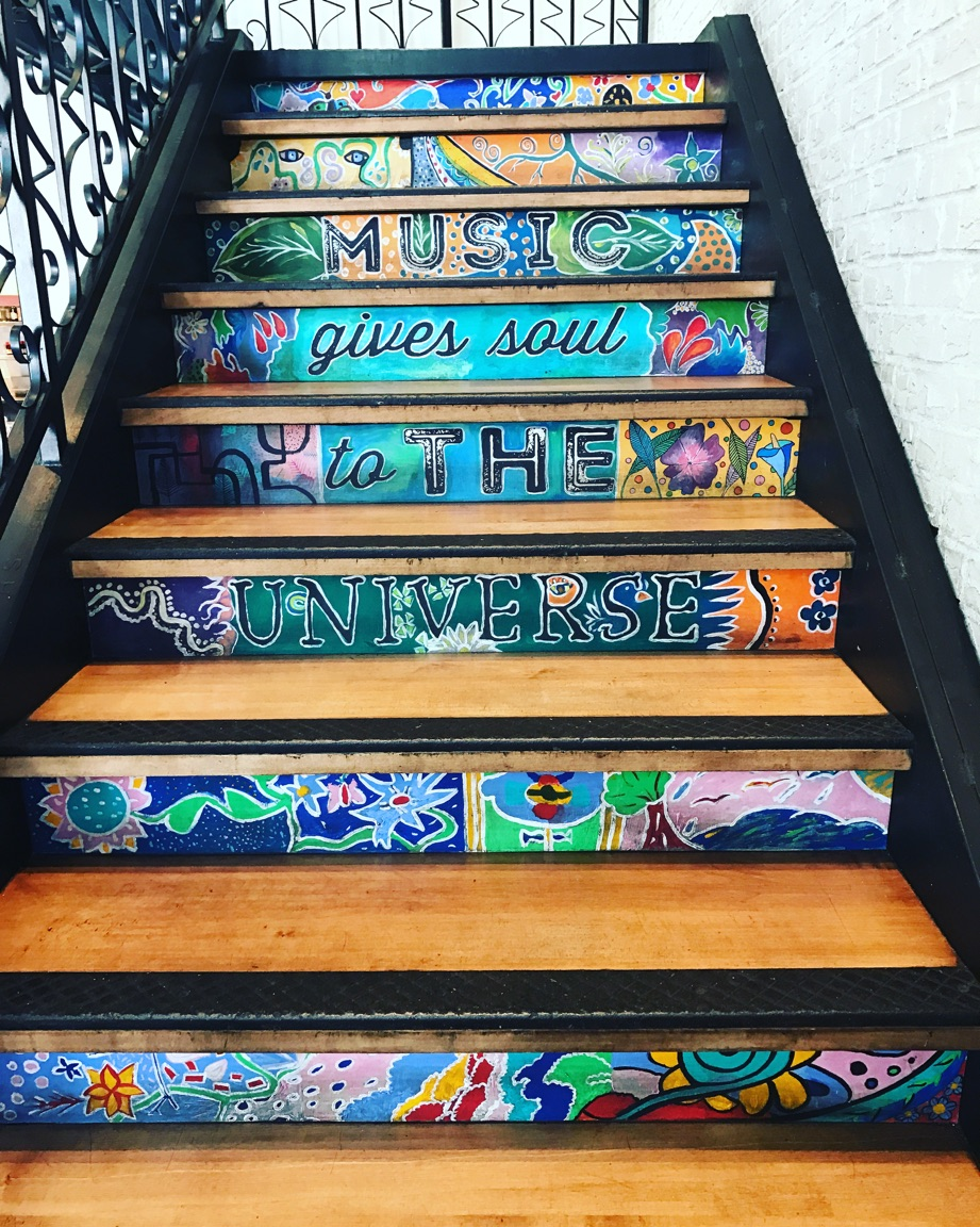 Beautiful stairs at one of our favorite restaurants in Santa Monica