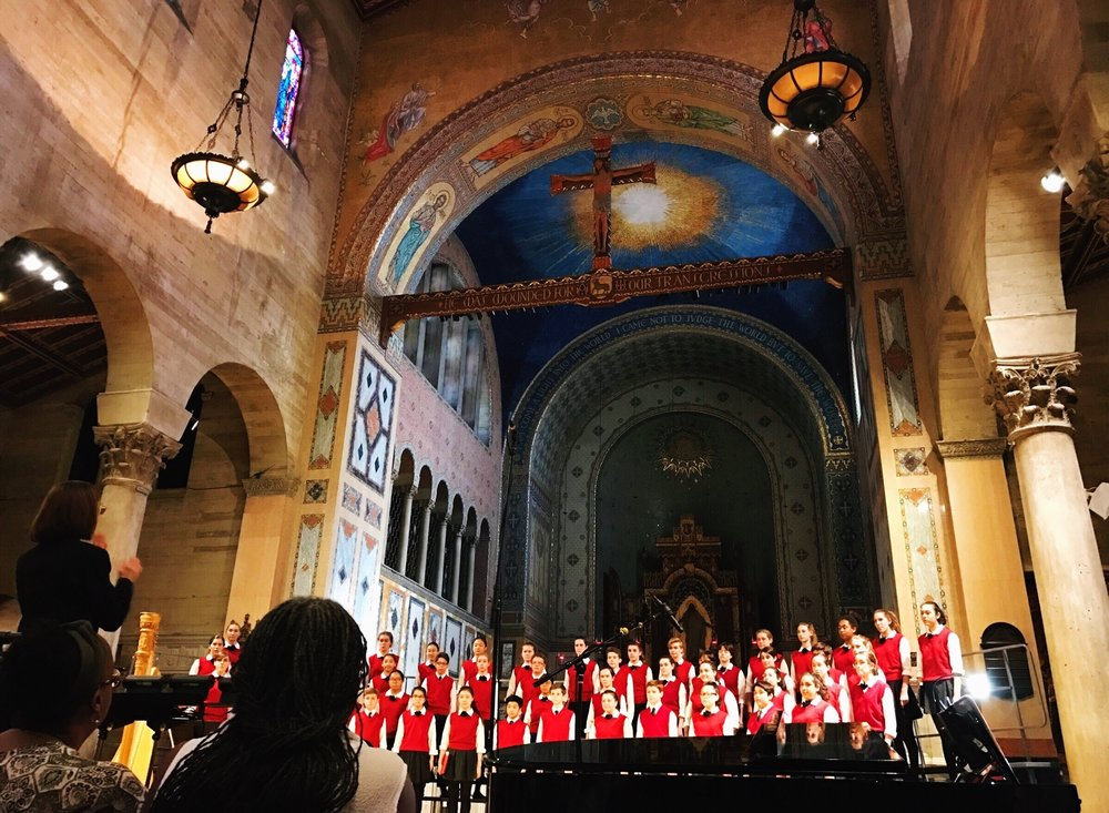 Los Angeles Children's Choir under the direction of Anne Tomlinson