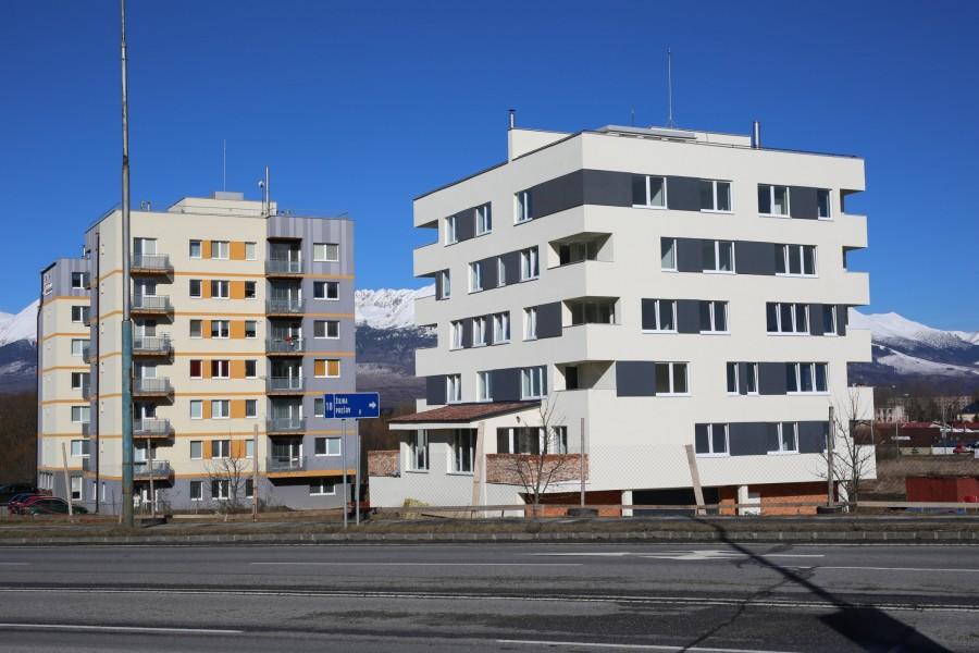Na fotke projekt realizovaný spoločnosťou BizPartner a.s. v Poprade tesne pred jeho ukončením.