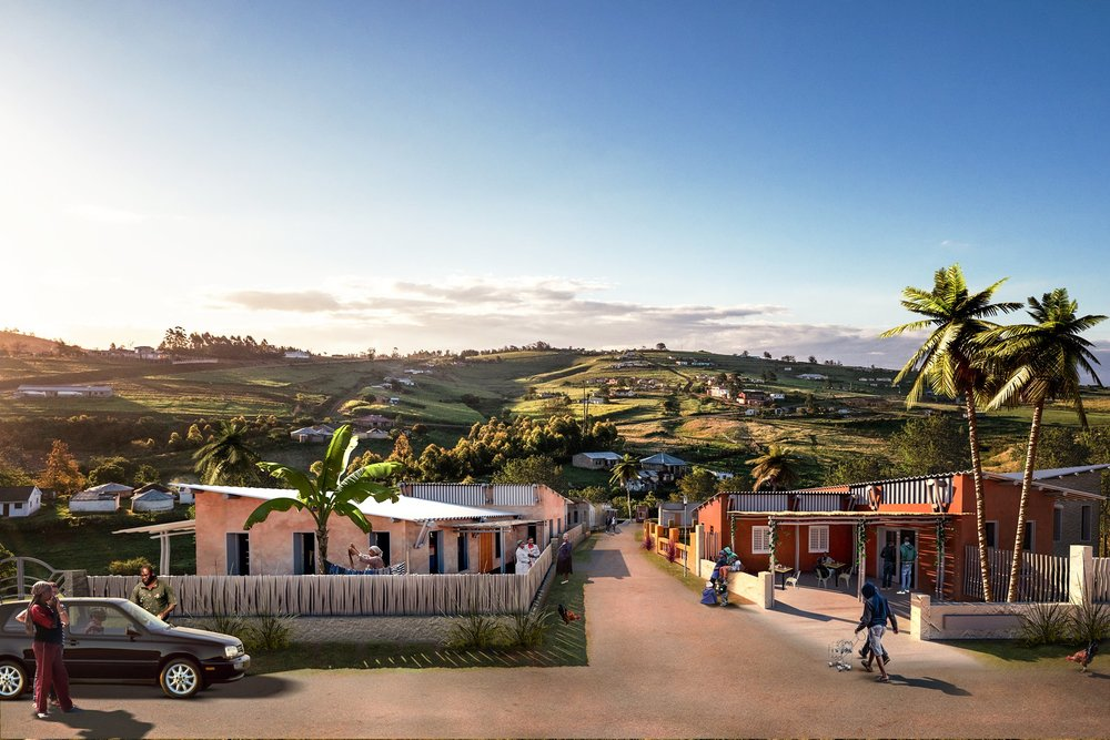 This is what a community with Ubuntu Homes would look like.