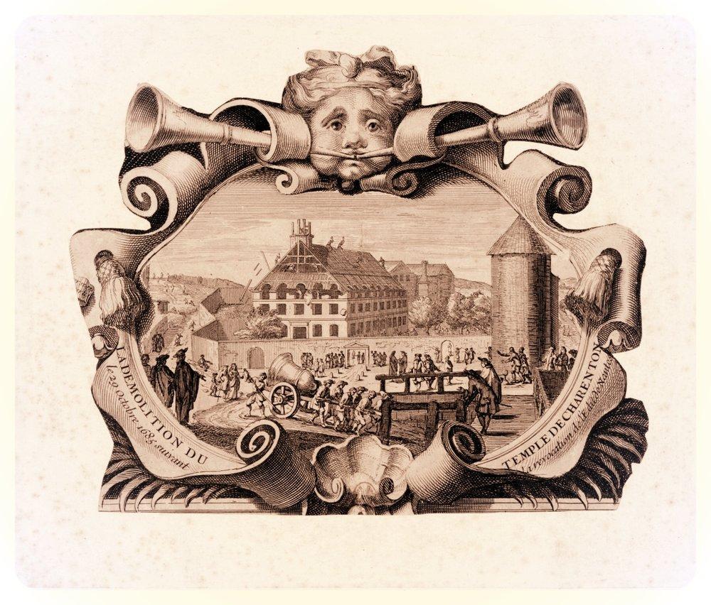 La Démolition du Temple de Charenton le 29 Octobre 1685 suivant la révocation de l'édit de Nantes