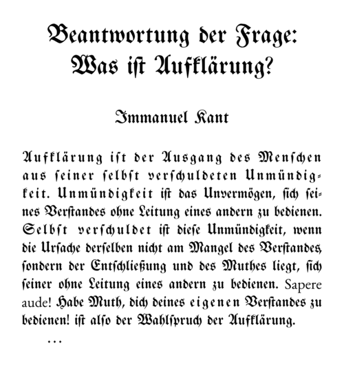 "teaching bryan banks ph d  the works of immanuel kant contributed greatly to both my research focus and my teaching philosophy when i first kant s 1784 essay ""what is"
