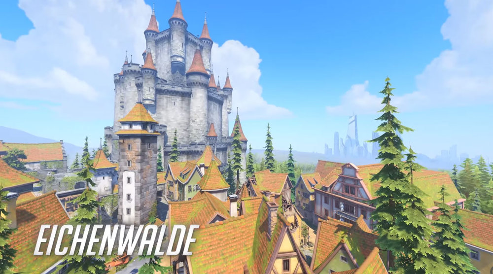 One of the many wonderful maps of  Overwatch.