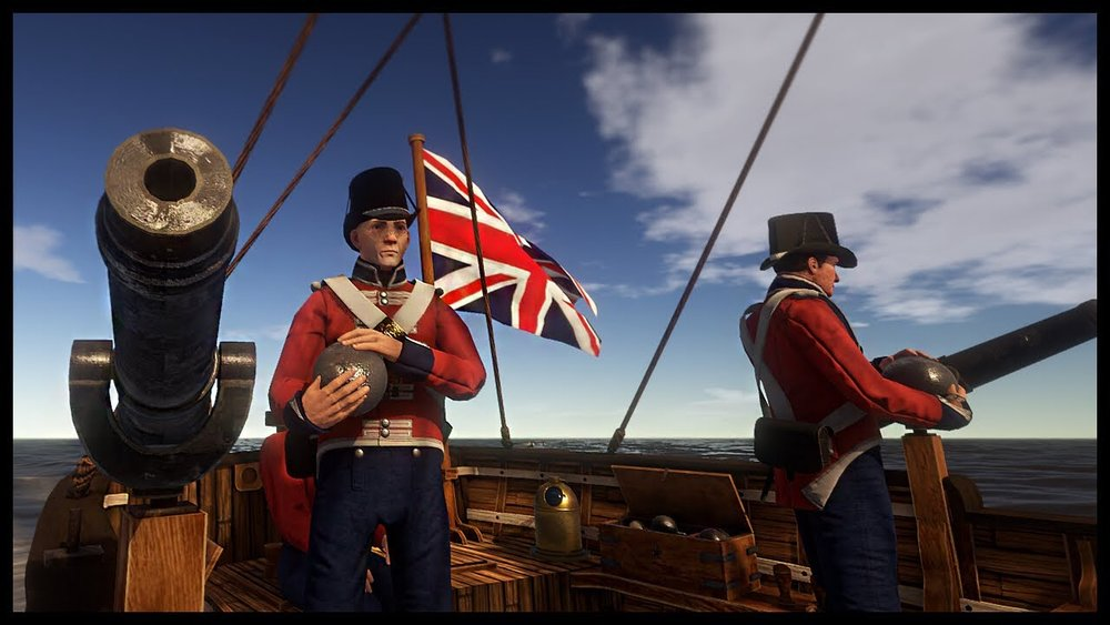 While the game does feature naval battles most of those servers were either underpopulated or buggy as hell.