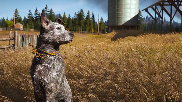 "Very good boy Boomer says ""join the  Far Cry 5  giveaway on March 30th!"""