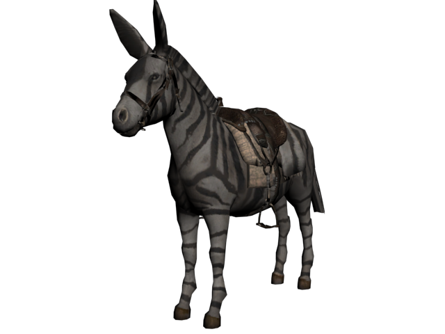 Rockstar originally developed a zebra model for the first  RDR  for an occasion such as this. Though it was only available in multiplayer.