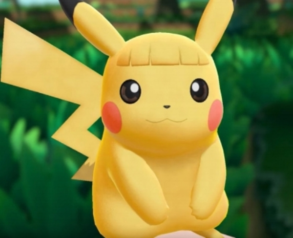 I'll admit Pikachu is a cute, little mouse but the bangs... hard pass.