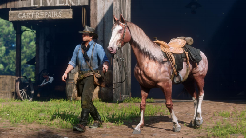 Just a man and his horse.