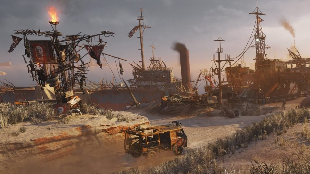 The influence of other post-apocalyptic franchises are apparent in a number of places; the desert level has a very distinct Mad Max vibe to it.