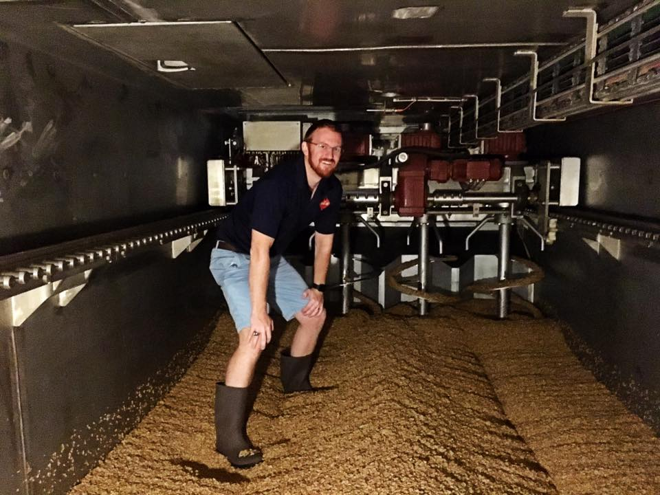 Inside the malting units at Epiphany Craft Malt