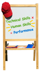 Technical Skills x Human Skills = Performance