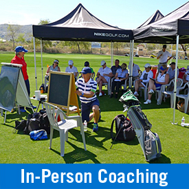 Visit us for in-person coaching. Come for a day or stay for a week. We have flexible options for organized programs, on-course coaching, and individual training     Learn more >>
