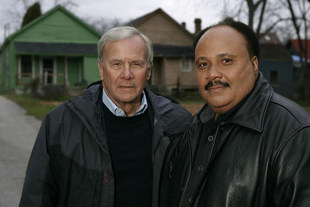 Tom Brokaw with Martin Luther King III