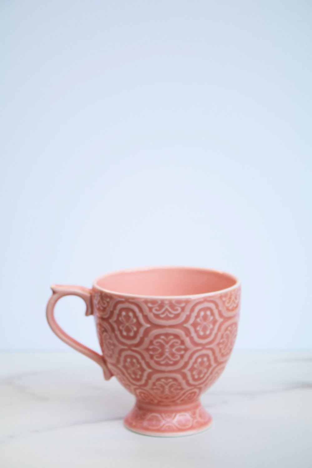 Tea Room Mug Anthropologie - Coral