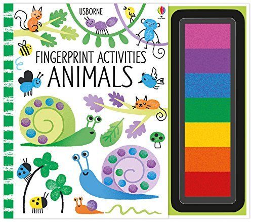 7) Fingerprint Activities - Using fingerprints to create pictures is not only super fun but also helps develop finger isolation, needed for proper fine motor abilities.