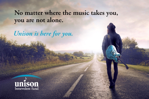 - The Unison Benevolent Fund ~ provides emergency assistance to people in the Canadian music community who are facing challenges and hardships. Thanks to everyone who donated by buying my song
